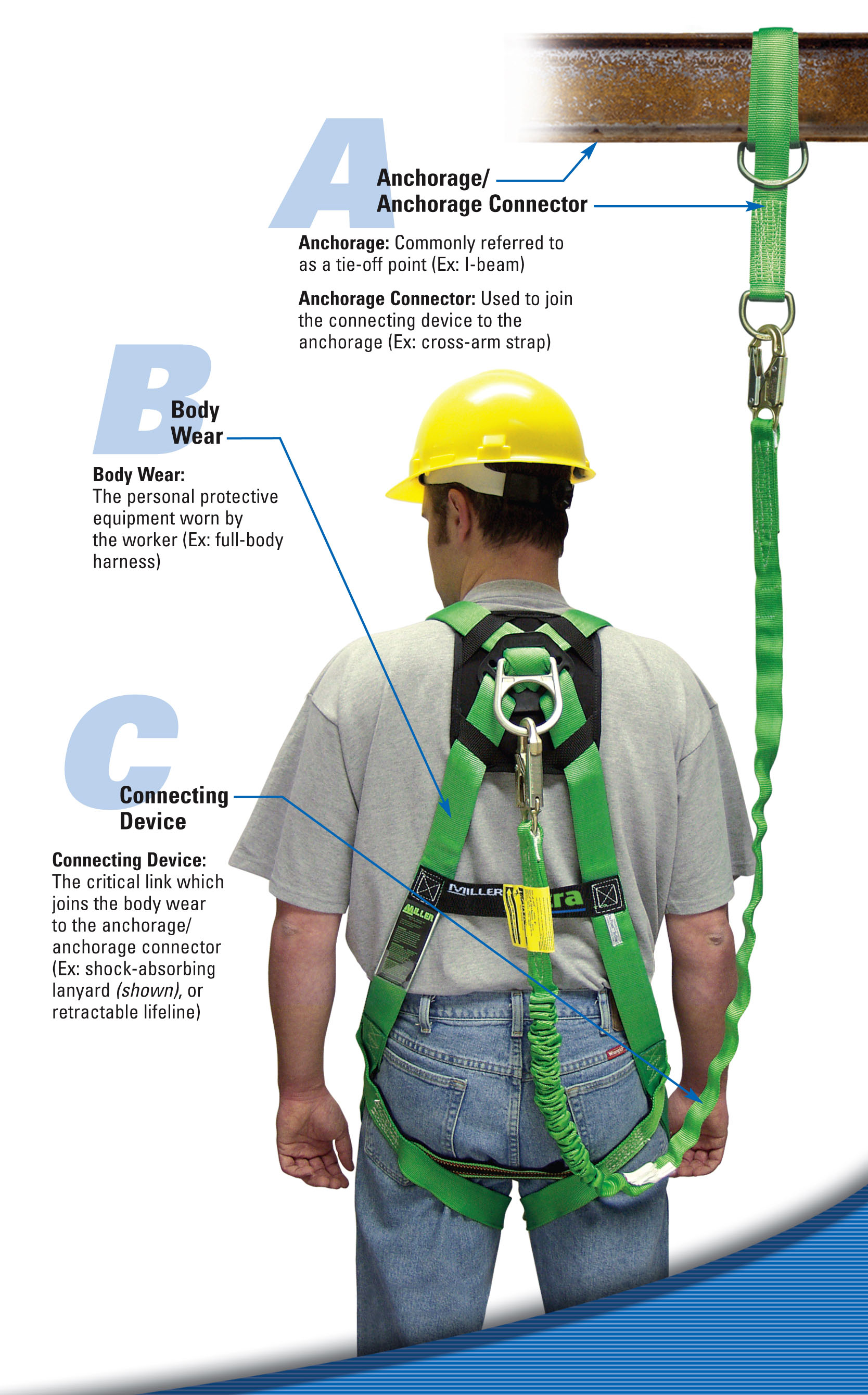 Highlighting the ABCs of Fall Protection: Anchorage Connector, Body Wear, and Connecting Device