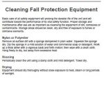 Cleaning Fall Protection Equipment