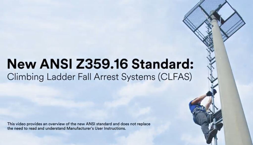 ANSI Z359.16 Standard for Climbing Ladder Fall Arrest System
