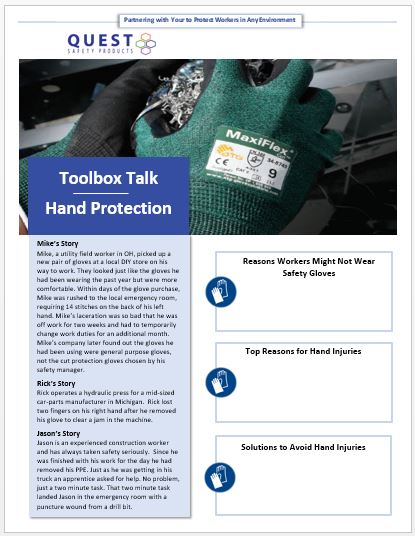 Hand Protection Toolbox Talk