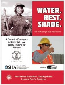 Heat Training Guide. Link to a PDF to help employers on carrying out heat safety training for workers.